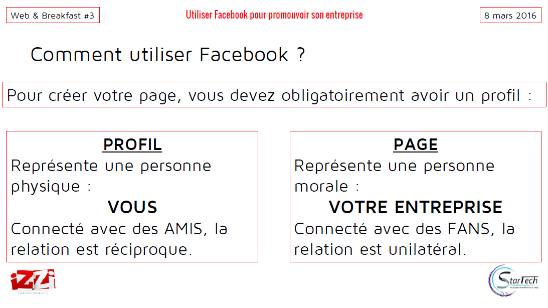 Utiliser facebook pour promouvoir son entreprise izzi web for Creer une entreprise qui rapporte